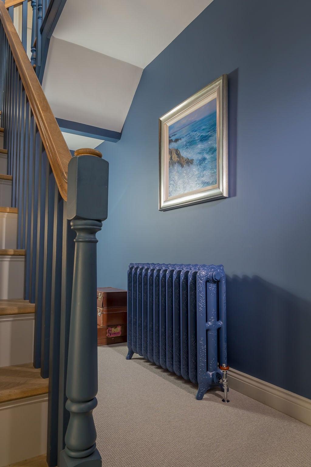 Oxford Ornate Radiator in Hallway Setting